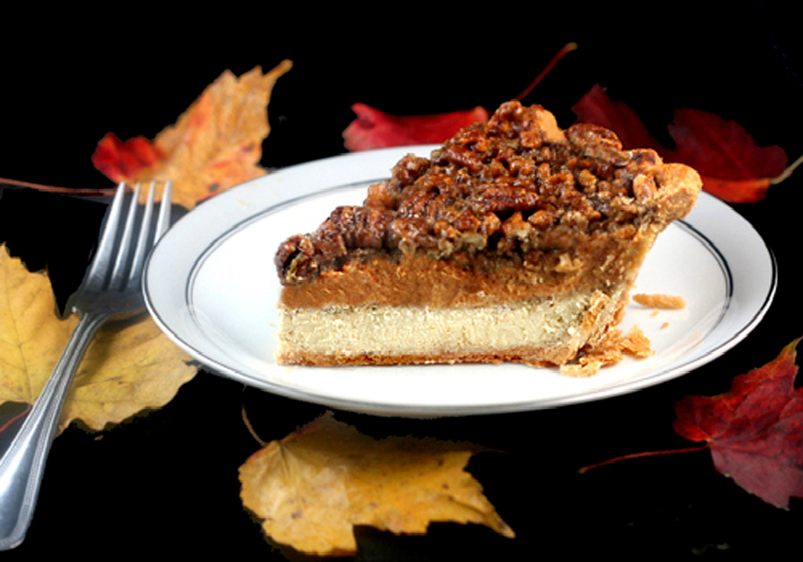 Three Pies in One - Cheesecake Pumpkin Pecan Pie - Parsley, Sage, and ...
